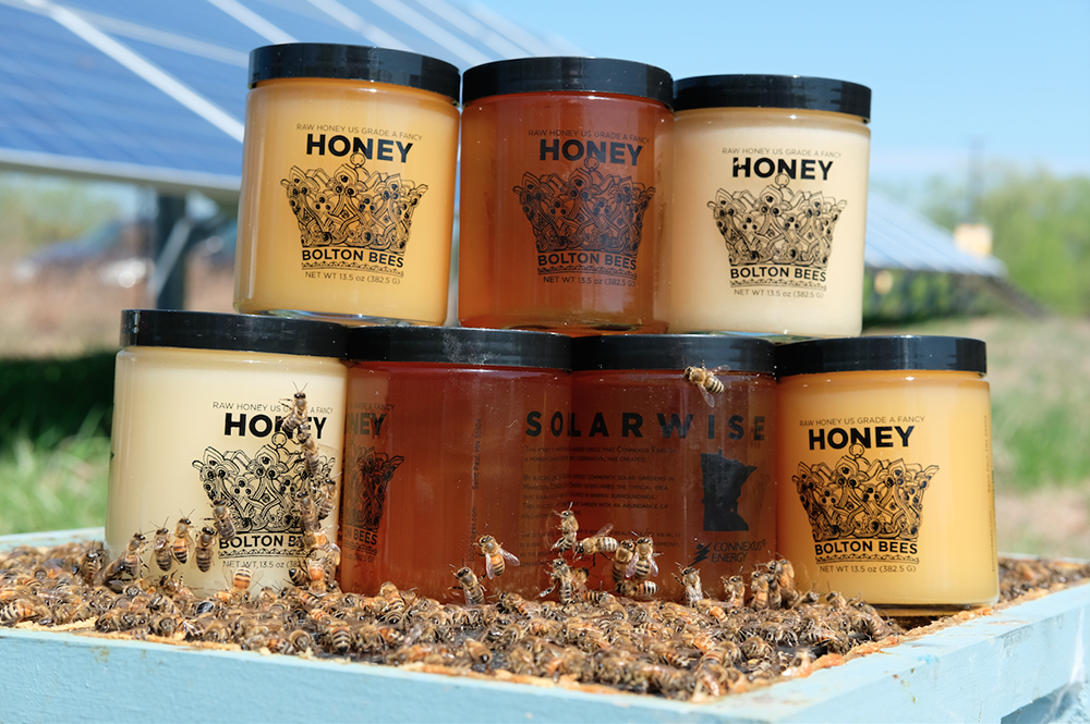 Some of the trademarked SolarHoney products the Solar Honey Company offers // Photo by Matthew Gorrie