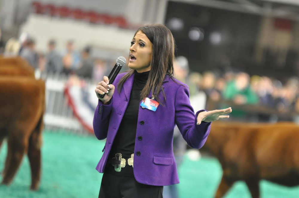 Emily Griffiths judging a competition // Photo courtesy Show Champions