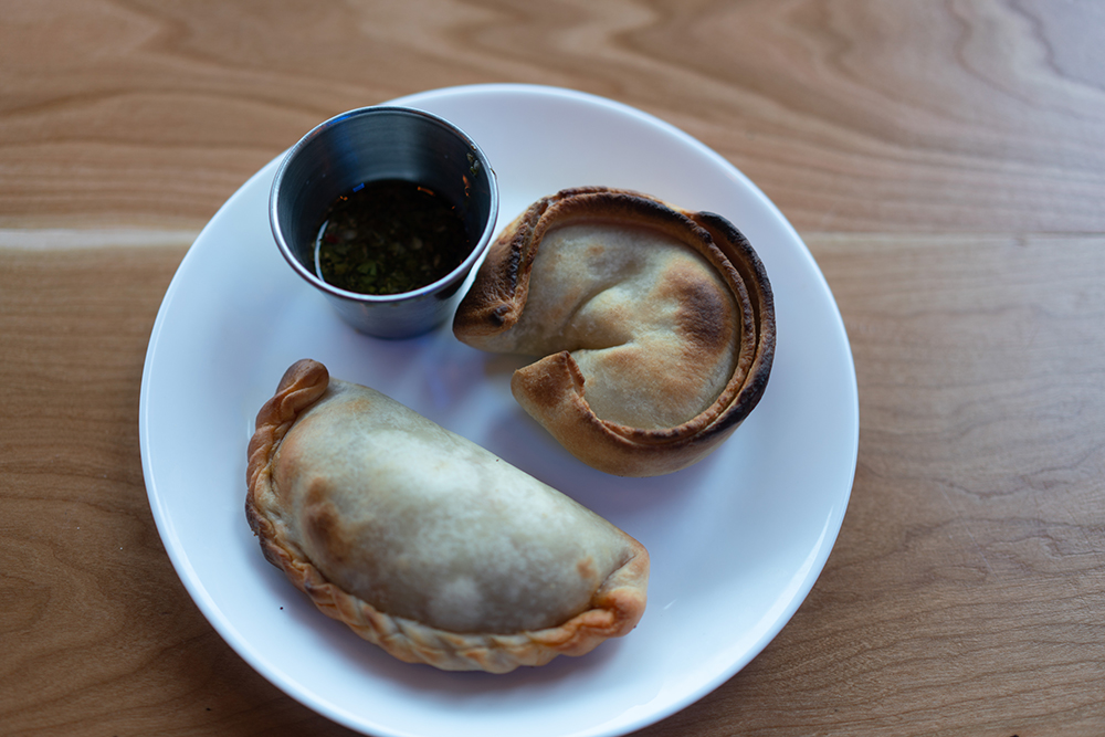 The Carne Empanada (left) and the Puerro (leek, right) Empanada at Boludo // Photo by Becca Dilley