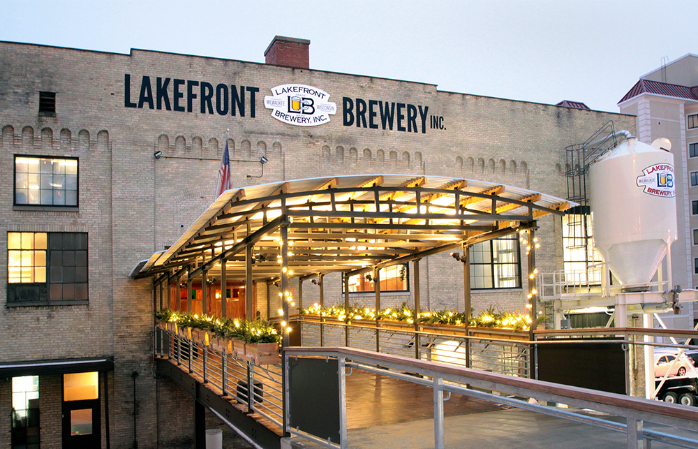 The front entrance of Lakefront Brewery Inc. // Photo courtesy Lakefront Brewery Incorporated