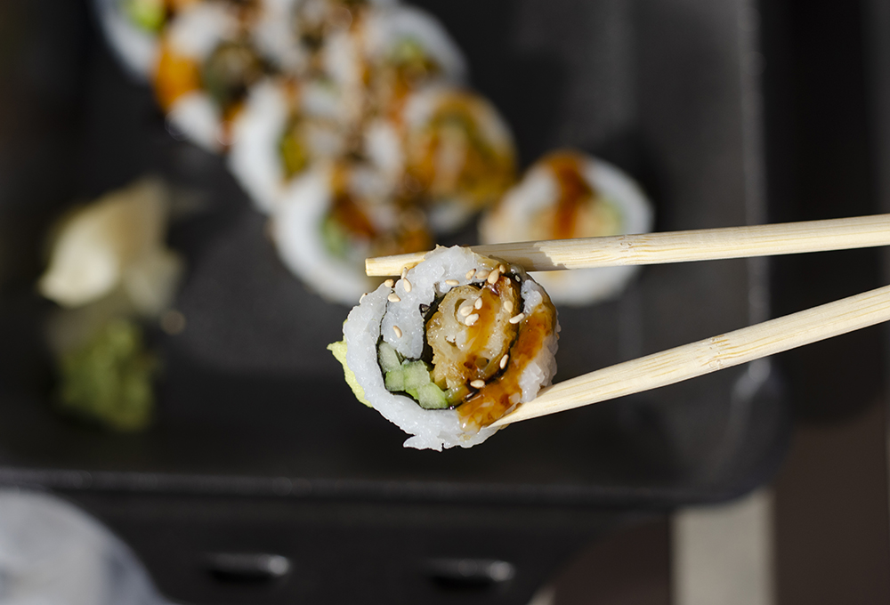 The regular Tempura Shrimp Roll from the Eagan Hy-Vee Market Grille // Photo by Aaron Job