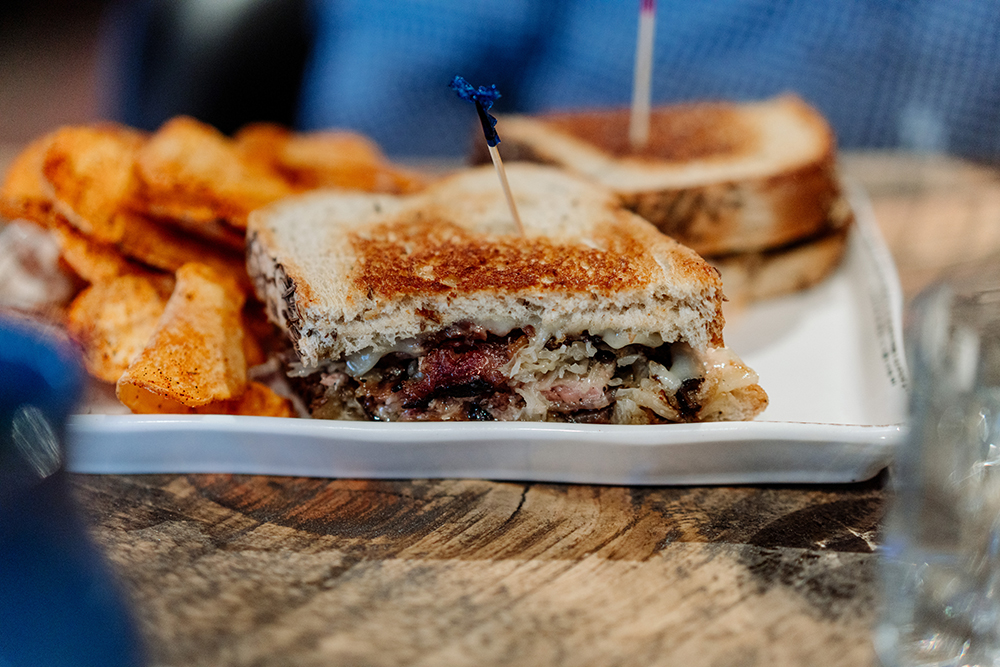 The MatchStick Smoked Brisket Reuben // Photo by Becca Dilley