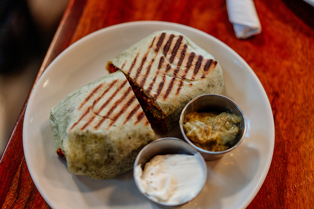 The Chilkoot Cafe and Cyclery's Biker Burrito // Photo by Becca Dilley