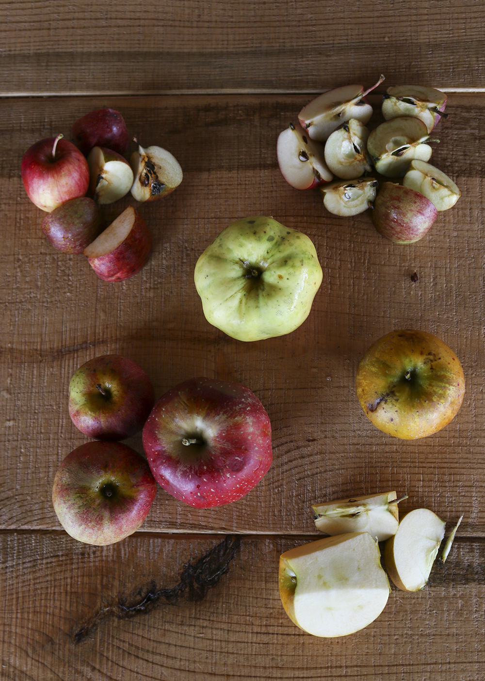 A collection of cider and table apples used at Milk & Honey in St. Joseph, Minnesota // Photo by Aaron Job