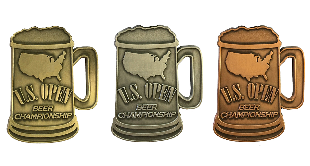 The U.S. Open Beer Championship medals // Courtesy U.S. Open Beer Championship Facebook