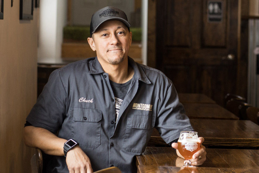 """Charles """"Chuck"""" Dorsey, co-founder and co-owner of Montgomery Brewing // Photo by Tj Turner"""